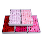 Flower soap roses gift box 50 pcs 50 pieces,Soap rose flower gift box,bath rose petal soap flowers box 2020