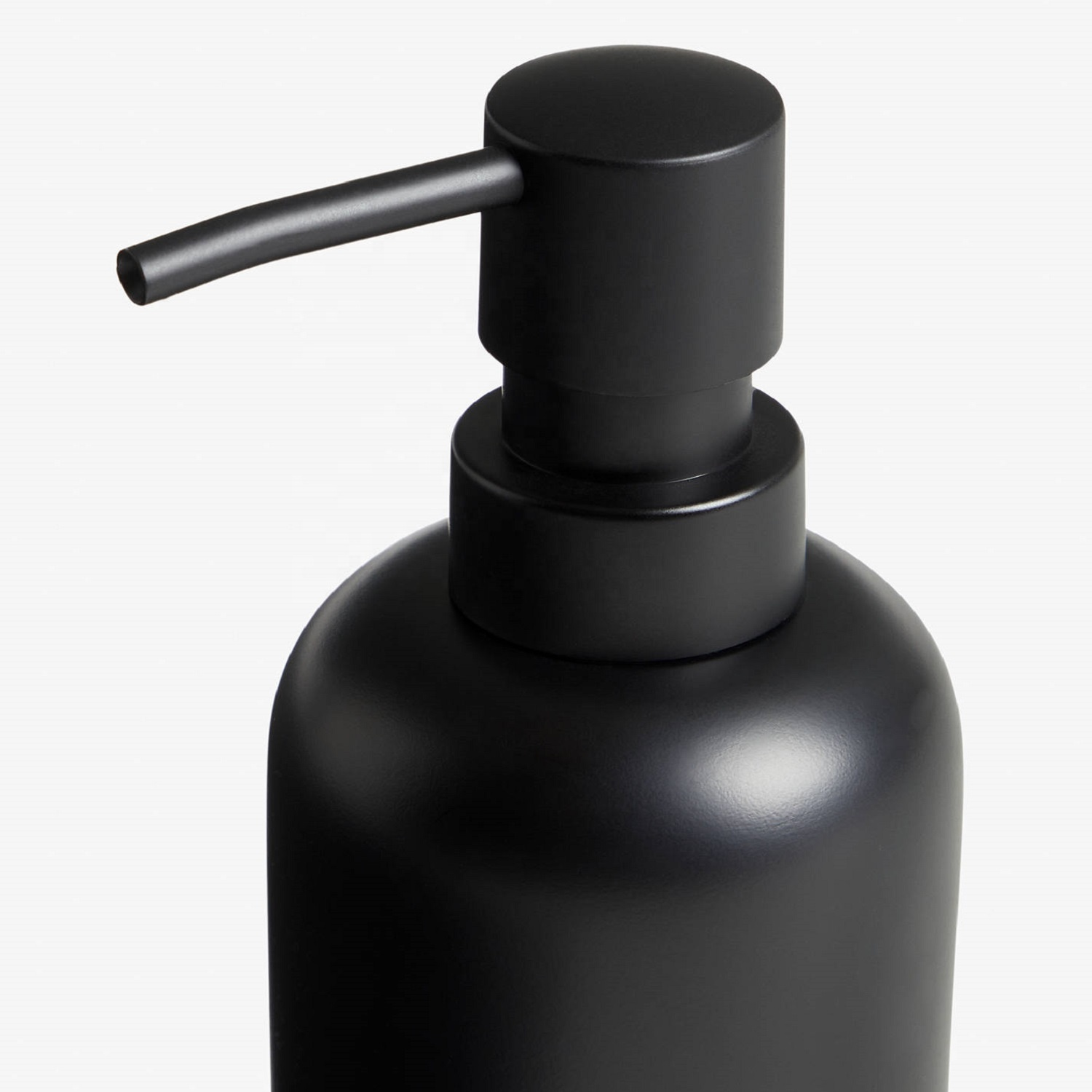 Luxury Matt Black Resin Bathroom Liquid Lotion Pumps