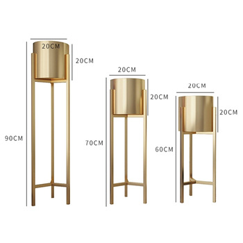 Factory Modern Planter Stand Plant Pots Round Flower Plant Stand Metal for Indoor Outdoor Potted Home Decor Gold Flower Stand