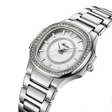MISSFOX розовое золото часы Для женщин кварцевые часы дамы лучший бренд класса люкс Нержавеющаясталь женские наручные часы для девочек золот...(China)