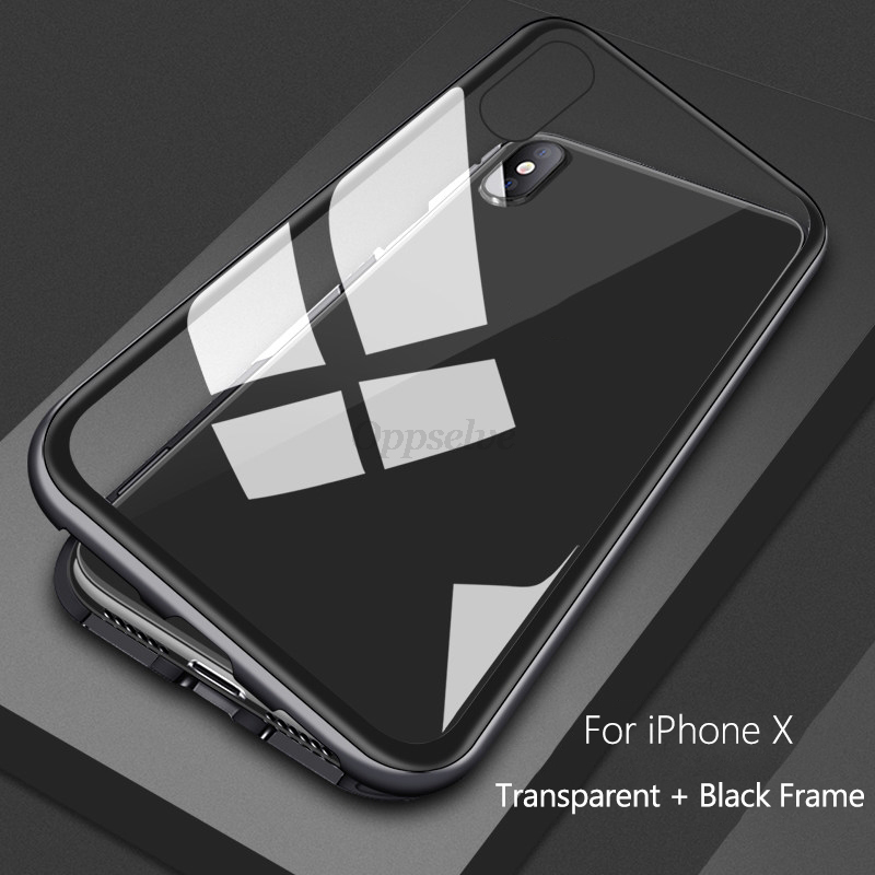 Роскошные Магнитная адсорбции чехол для iPhone X Xr Xs Max 8 7 6 6S S плюс Металл поглощения магнит закаленное Стекло флип-чехол Капа(Китай)