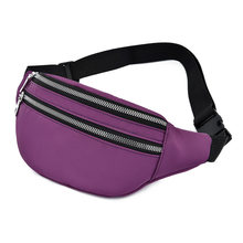 Однотонная женская поясная сумка, модная Водонепроницаемая поясная сумка, Женские поясные сумки, новая нагрудная сумка, многофункциональн...(Китай)