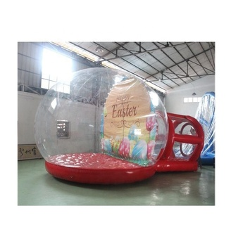 inflatable snow globe with tunnel entrance for christmas decoration event advertising