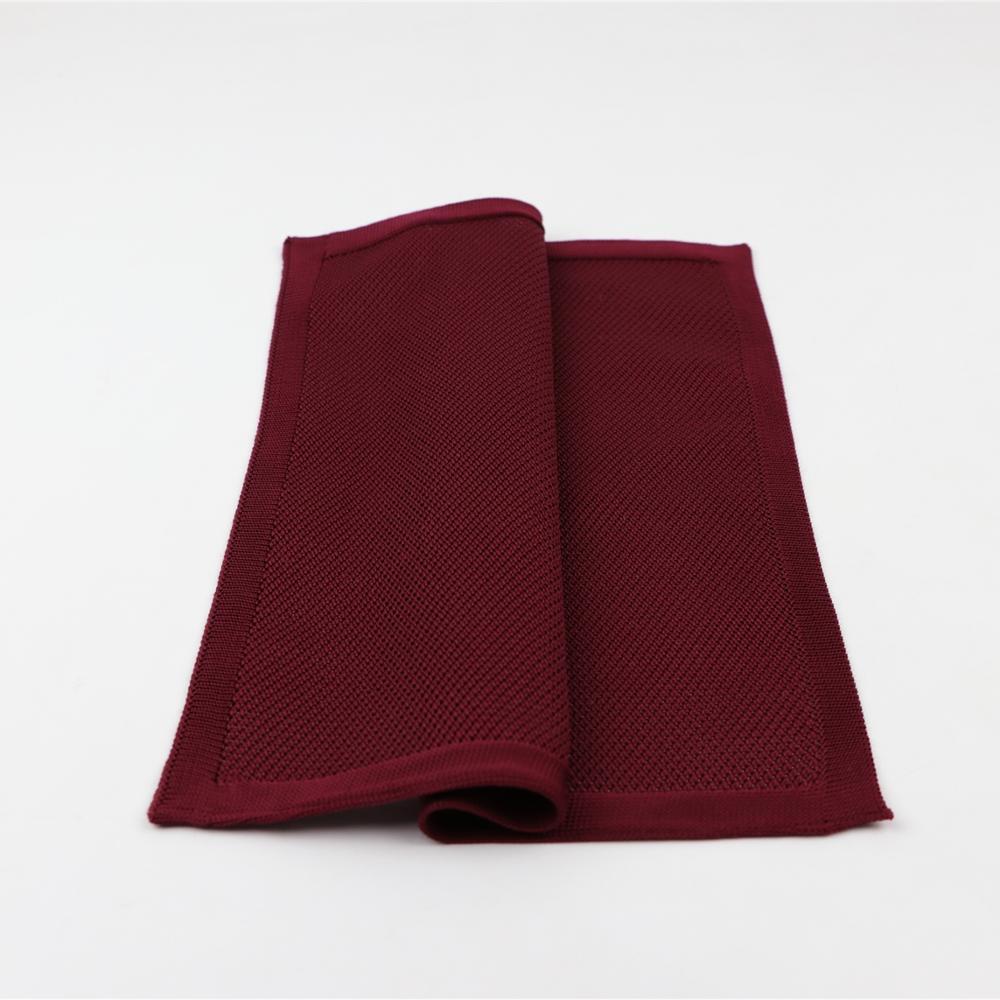 Однотонный вязаный носовой платок шарфы винтажный тканевый деловой костюм тканый мужской Карманный квадратный вязаный носовой платок