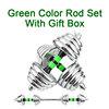 Yeşil çubuk hediye kutusu ile Set