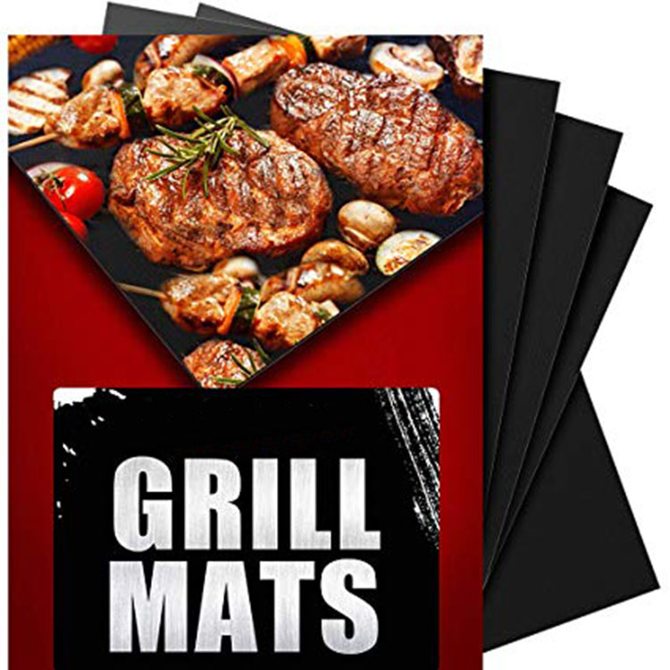 Amazon Hot Sizes Non-stick Heavy Duty Barbecue BBQ Grill Mat Pan Pad Oven Liner