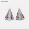 Silver plated earrings-8