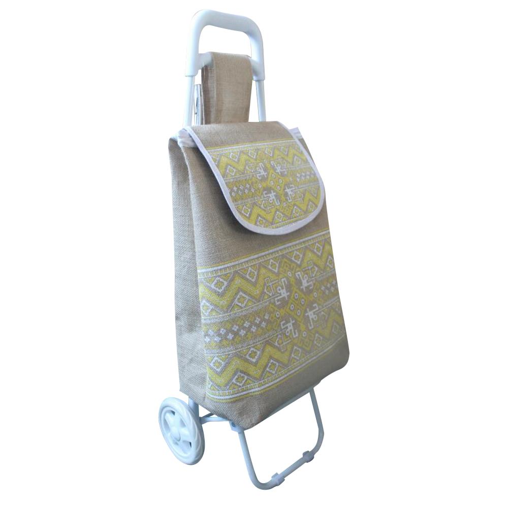 Оригинальная льняная Тележка для покупок granny из экологии с ПВХ покрытием в австралийском стиле