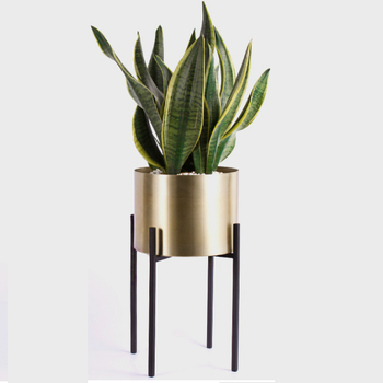 "Metal Planter (10"", 8"" or 6"" & 5"" Set) - Large Indoor Plant Pot For Indoor Plants and House Plants"