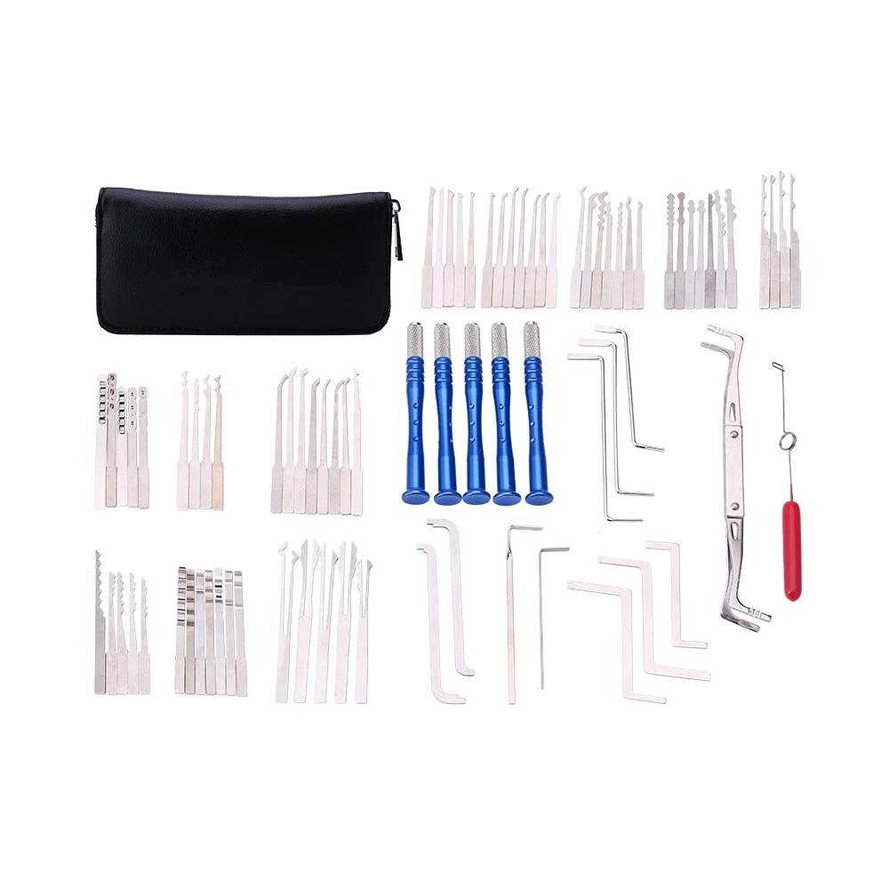 Оптовая продажа, слесарный инструмент, 64 шт., многофункциональные Сменные грабли, палочки для замка кабы с прозрачной практичной защелкой