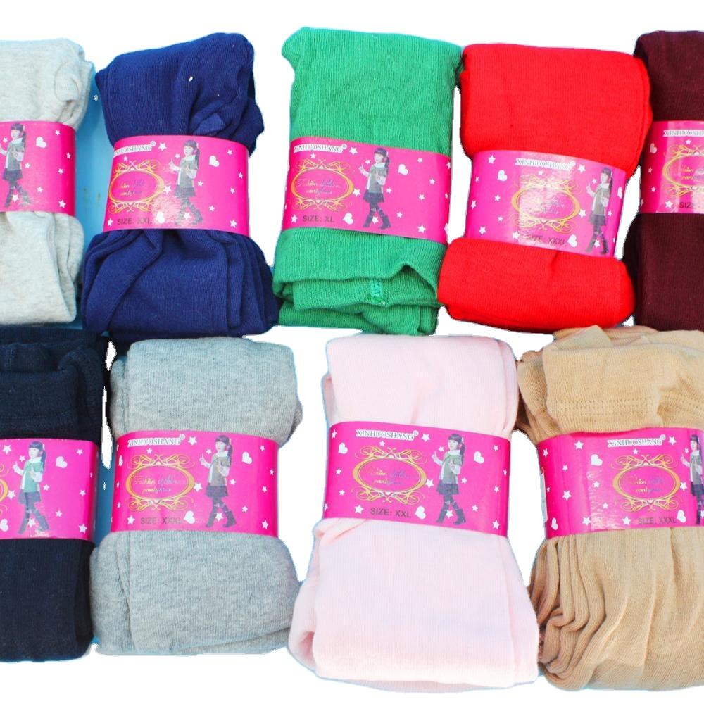 Spring and autumn children's double-knit cotton leggings children's color pantyhose children winter wears