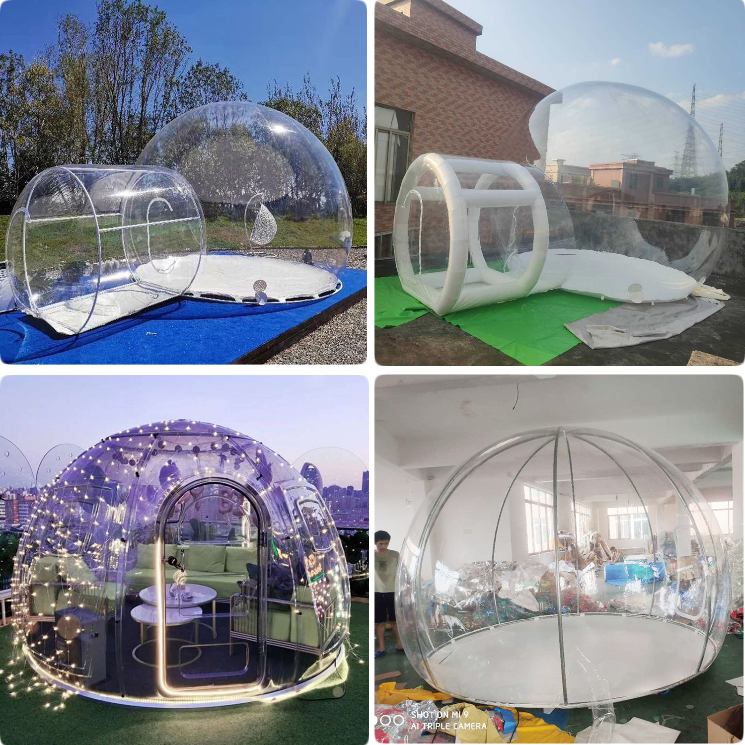 Outdoor igloo dome bubble tent / Inflatable Transparent Bubble Tent House/ Inflatable Hotel Bubble Lodge Tent for sale