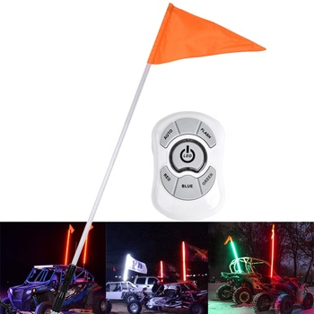 4ft/5ft/6ft 1.2m 1.5m 1.8m Led Whip Flag Light with Wireless Remote Control For Sand Dune Buggy, ATV, UTV, RZR, Jeep, Trucks
