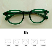 Очки для чтения для мужчин и женщин Johnny Depp, ацетатные ретро очки для дальнозоркости + 1,0 + 1,5 + 2,0 + 2,5 + 3,0 + 3,5 + 4,0, ручная работа(Китай)