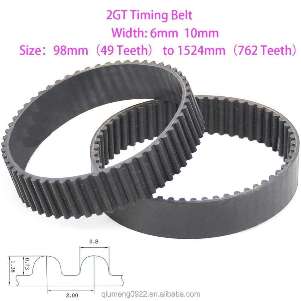 Details about  /2GT Timing Belt 98-1524mm,Width 6mm 10mm Rubber Ring Transmission Belt,Pitch 2mm