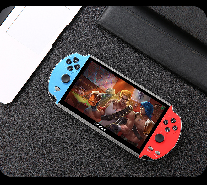 X12 plus 7inch 128 bits consola retro portable mini retro video game console handheld game player for Christmas gift