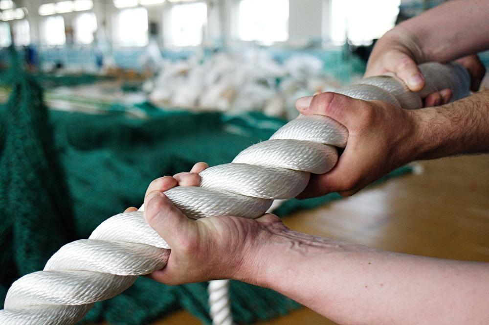 Плетеная веревка Полиамид витой 3 нитями повышенной прочности