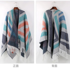 Scarf Stripes Women's Lightweight Cashmere Feel Summer Scarf With Stripes Design Sun Shield Shawl Wrap With Tassels