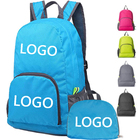 2020 hottest fashion stock cheap polyester foldable backpack best small travel backpack for hiking and camping