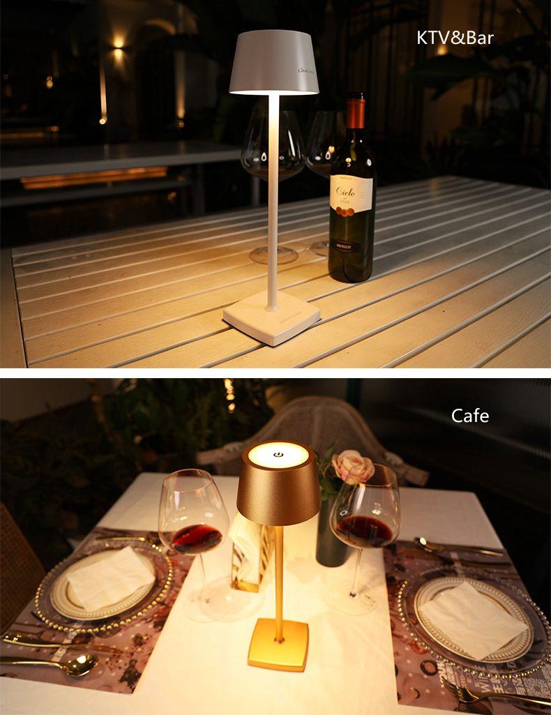 Современный европейский Настольный светильник, украшение для отеля, ресторана, перезаряжаемая Светодиодная настольная лампа, романтический обеденный светильник, zafferano poldina pro
