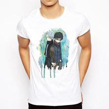 Мужская футболка с круглым вырезом, белая футболка с принтами на русские мотивы(Китай)