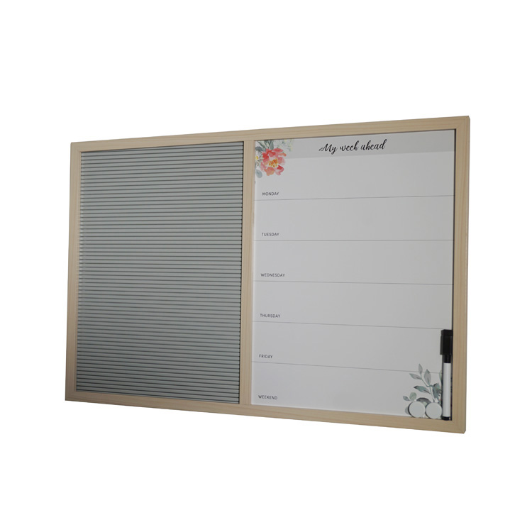 Dry Erase Writing Message Office Desk Wall Board New White Memo Bulletin Board