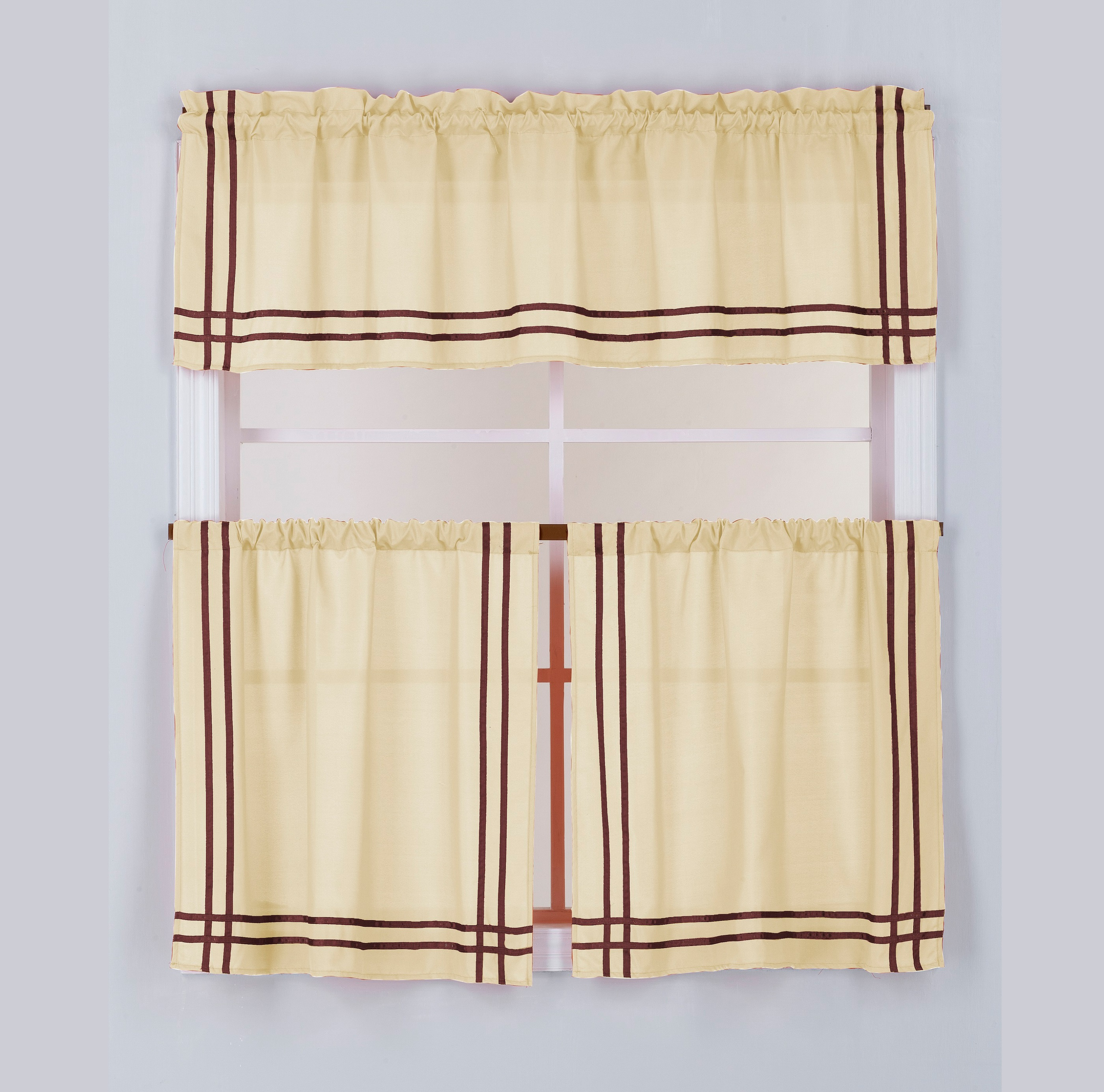 Cafe Solid Microfiber Grosgrain Ribbon Kitchen Curtain Sets Buy Curtains For Kitchen Curtains Kitchen Ready Made Kitchen Short Curtain Product On Alibaba Com