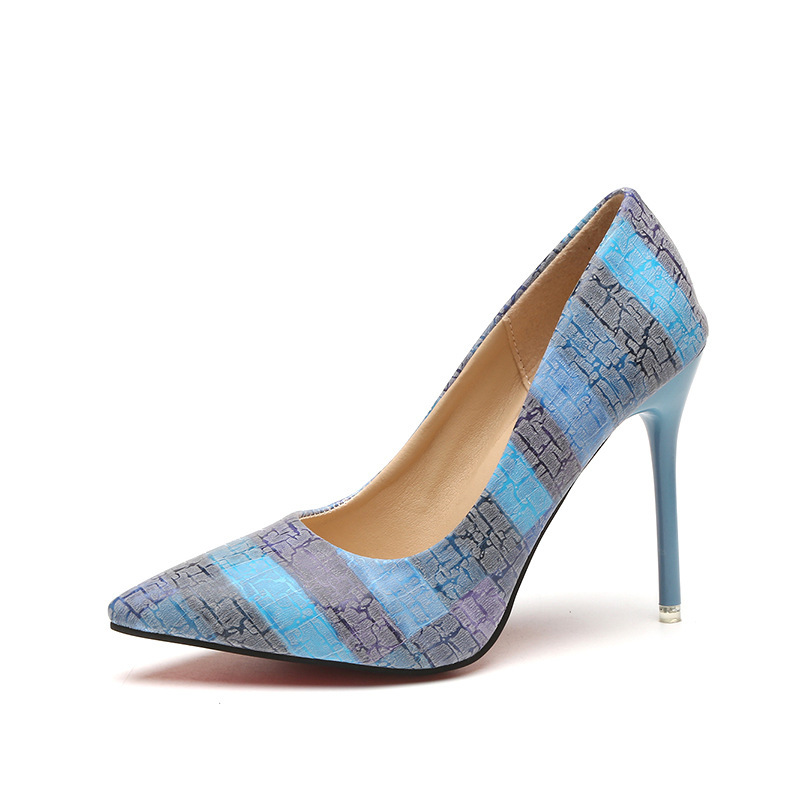 New style fashion brand design summer colorful Pearl high heel women party shoes