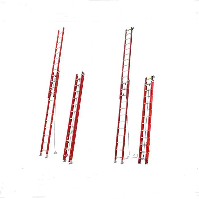 EN131 новый дизайн 2 или 3 секции 6 м/8 м/10 м Стекловолоконная многофункциональная удлинительная FRP Изолированная лестница