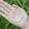 CB86803 Crystal, Yellow Jade+letter