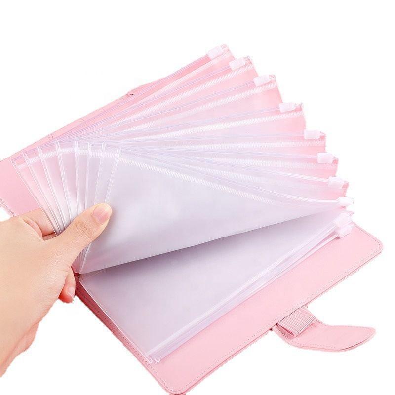 Личный денежный бюджет конверты системы кожаный бюджет Binder 6 кольцо Binder с 12 штук Binder карман