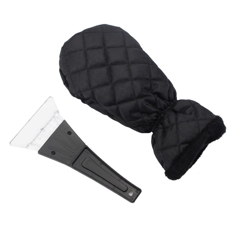 Transparent shovel head Car Plastic Ice Scraper with Glove black Snow shovel for car