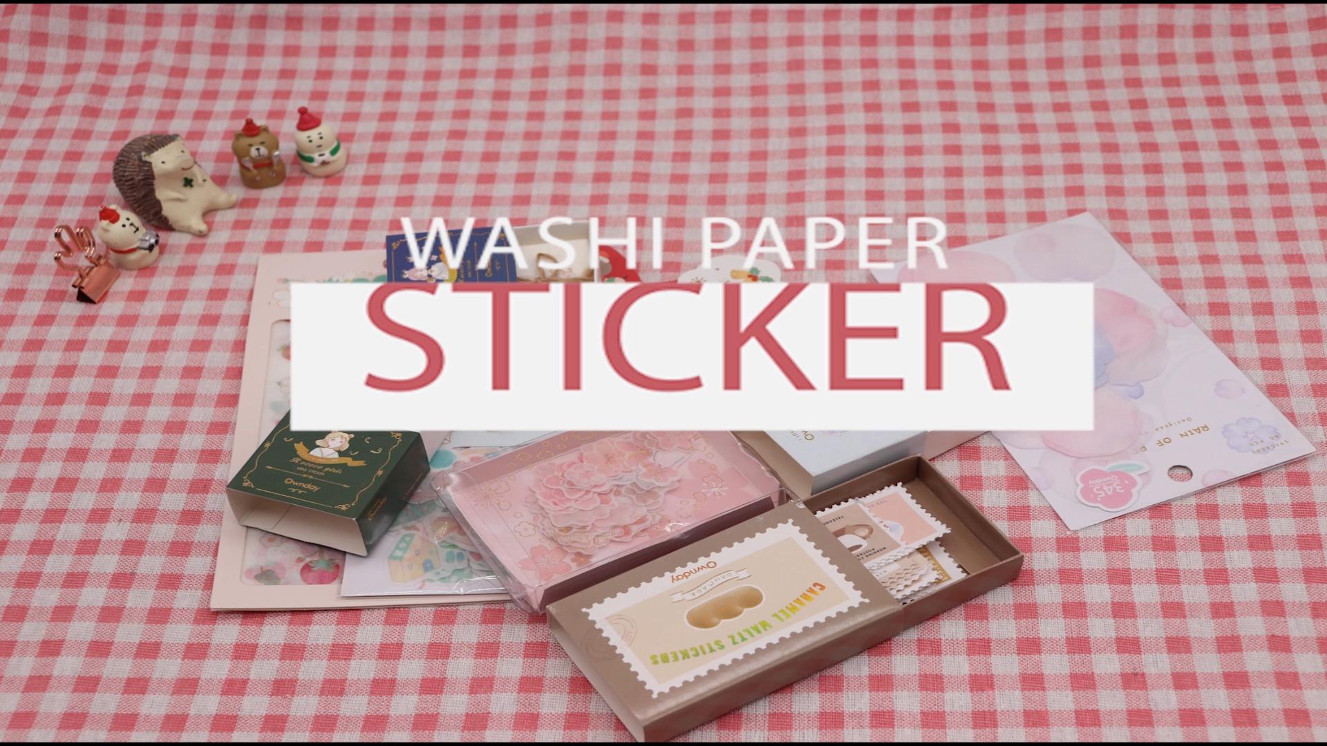 Ownday 101433 A petish conjunto personalizado bonito de kawaii crianças estudante fantasia planejador de papel washi adesivo