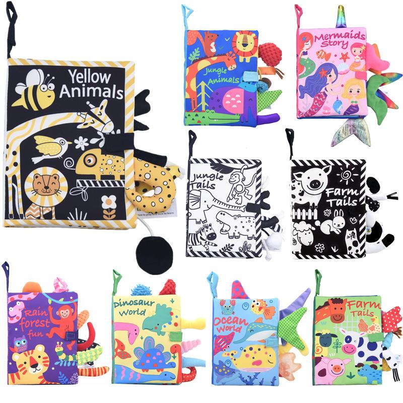 Черно-белый хвост джунглей не может оторвать историю книги детская мягкая ткань животное игрушка книга