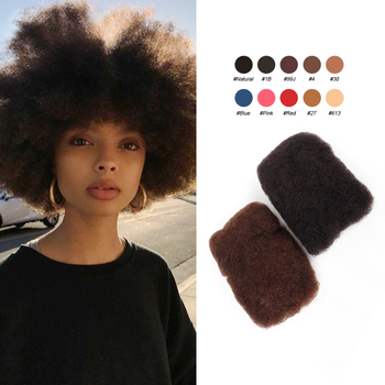 Vast 100% afro kinky curly human hair bulk for braiding/loc extensions afro kinky bulk human hair no weft afro hair wholesale