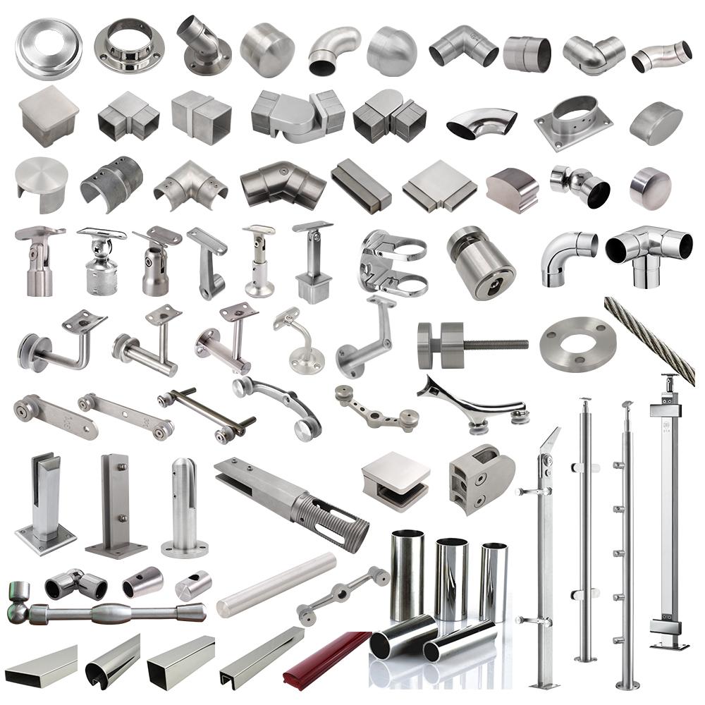 Строительный материал, фитинги для труб Daimeter 50,8, труба 2 дюйма, труба из нержавеющей стали 304 Inox 316, круглые трубки для перил, аксессуары