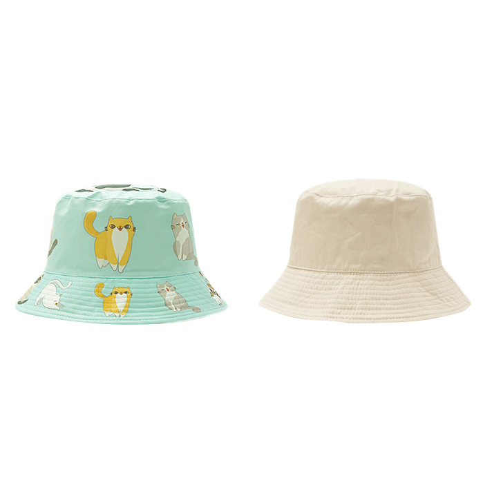 High Quality Reversible Wholesale Unisex Custom Logo Printed Polyester Fisherman Bucket Hat