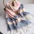 Scarf Shawl Scarf Woman Wholesale Yarn Dyed Winter Custom Plaid Tartan Women Warm Scarf Shawl Wrap With Tassel