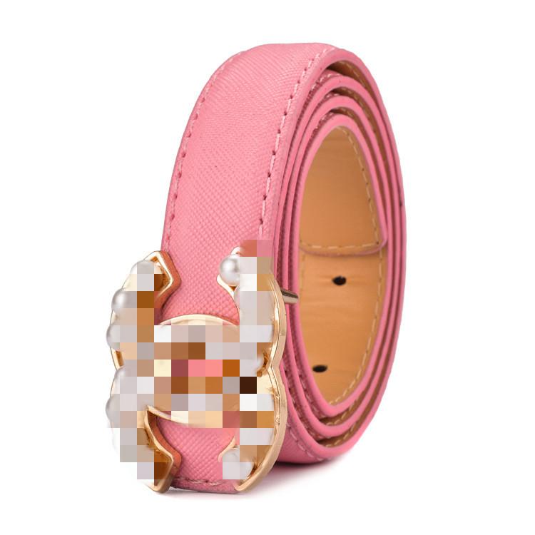 Custom Logo Luxury Boy and Girls Brand Belts for Children Fashion Leather Designers Belt for Kids
