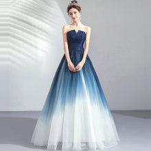 Женское платье без рукавов It's YiiYa, синее длинное вечернее платье трапециевидной формы в пол, большие размеры, 2019(Китай)