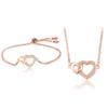Necklace & Bracelet Jewelry set - Rose Gold