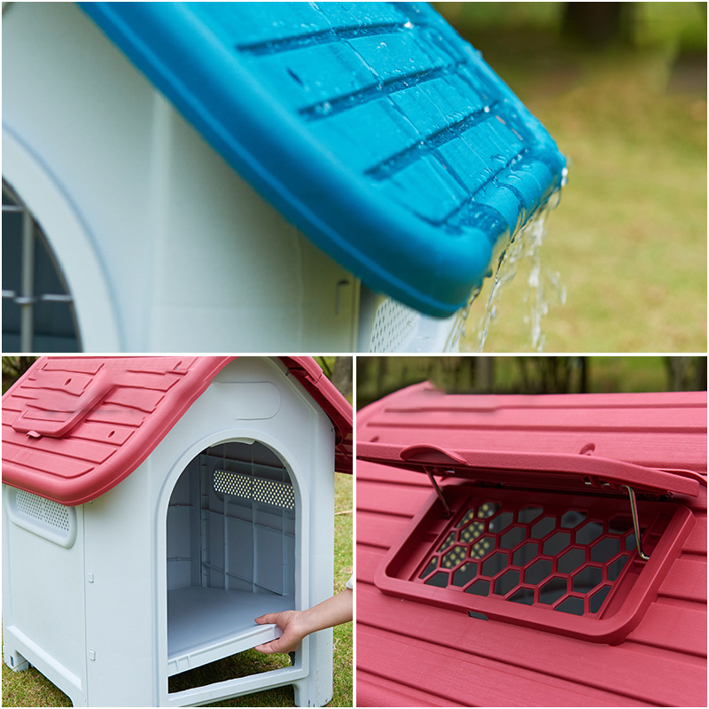New design rainproof dog house with ventilation opening