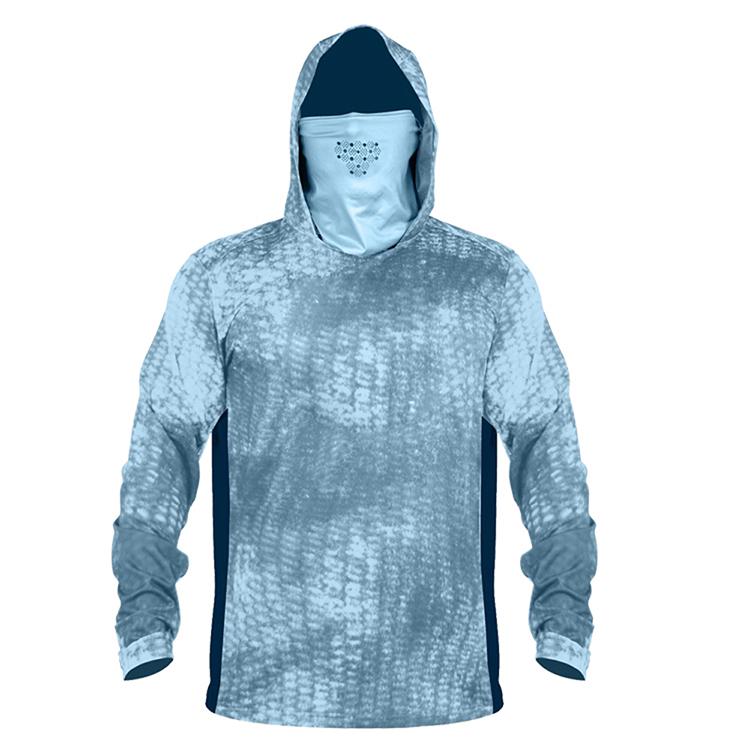 Быстросохнущая с длинным рукавом клиент выбирает свой собственный дизайн, Производительность Рыбалка рубашка с капюшоном