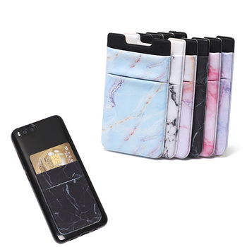 Amazon hot sell lycra Phone Wallet Card Holder Carry Credit Cards and Cash Protection