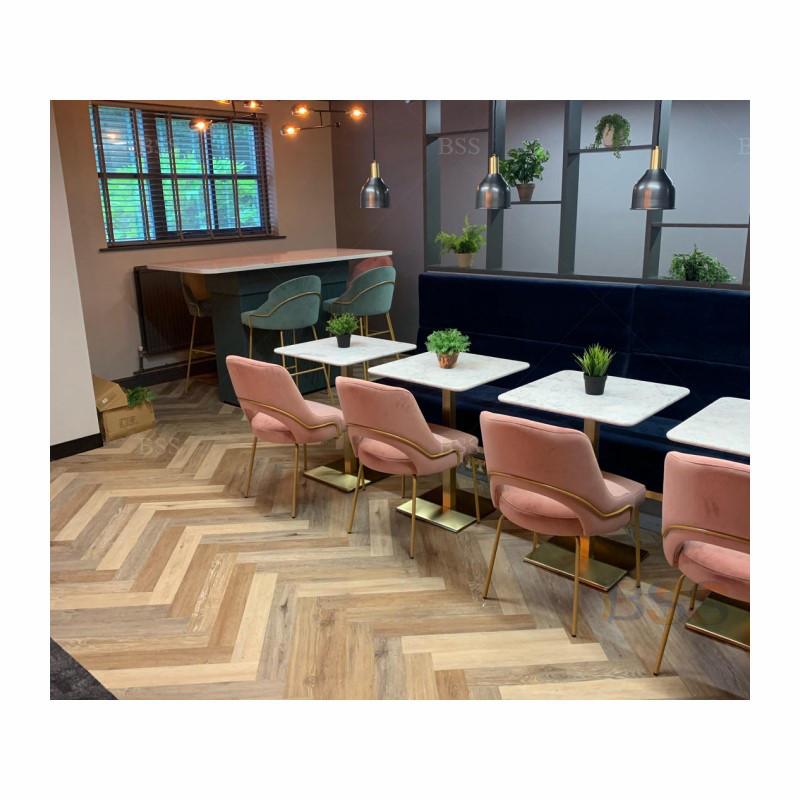 Топ 30, популярный набор столов и стульев mcдональда с мраморным верхом, набор квадратных столов для ресторана