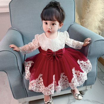 MQATZ New Net Frock Designs Girls' Clothing Newborn Baby Party Dress For Children