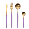 Pink Gold Set(4pcs:knife,fork,spoon,teaspoon)