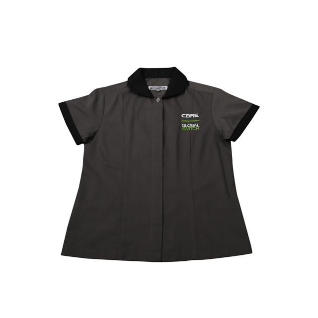 2020 Maid's House Keeping Uniform Custom Black Property Cleaning Uniform for Women