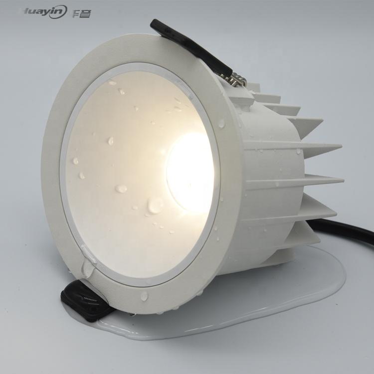 Уличная потолочная лампа с антибликовым покрытием, IP67, 10 Вт, 12 Вт, 18 Вт, 20 Вт, 30 Вт, 35 Вт, 40 Вт, с регулируемой яркостью, Водонепроницаемый cob светильник, ip65, утопленный