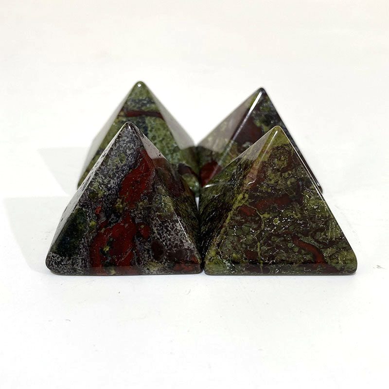 Natural Transparent crystal Pyramid Clear Reiki Healing FengShui